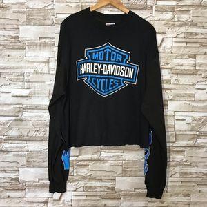 Vintage Harley Davidson Long Sleeve Crop top